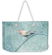 House Finch With Colored Sketch Effect Weekender Tote Bag