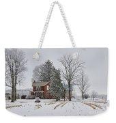 House In Winter Weekender Tote Bag