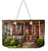 House - Porch - Belvidere Nj - A Classic American Home  Weekender Tote Bag