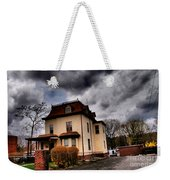 House With Storm Approaching Weekender Tote Bag