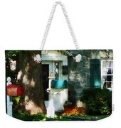House With Turquoise Shutters Weekender Tote Bag