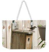 House Wren Feeding Time Weekender Tote Bag