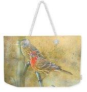 Housefinch Pair With Texture Weekender Tote Bag