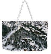 Houses In A Village In Winter, Tasch Weekender Tote Bag