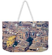 Houses Of Old City Of Siena - Tuscany - Italy - Europe Weekender Tote Bag