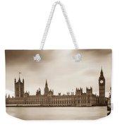Houses Of Parliament And Elizabeth Tower In London Weekender Tote Bag