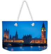 Houses Of Parliament Weekender Tote Bag by Inge Johnsson