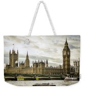 Houses Of Parliament On The Thames Weekender Tote Bag
