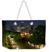 Houston At Night Weekender Tote Bag