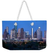 Houston Night Skyline Weekender Tote Bag
