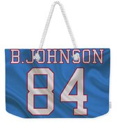 Houston Oilers Billy Whiteshoes Johnson Weekender Tote Bag