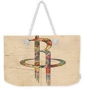 Houston Rockets Logo Art Weekender Tote Bag
