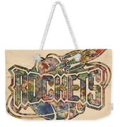 Houston Rockets Retro Poster Weekender Tote Bag