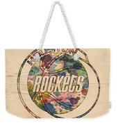 Houston Rockets Vintage Poster Weekender Tote Bag