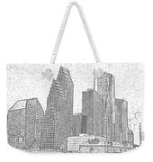 Houston Skyline Abstract Weekender Tote Bag