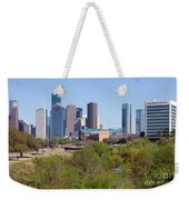 Houston Skyline And Buffalo Bayou Weekender Tote Bag