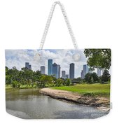 Houston Skyline On The Bayou Weekender Tote Bag