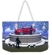 How Did You Get That Car Up There? Weekender Tote Bag