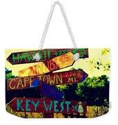 How Far Is It To Key West Weekender Tote Bag
