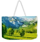 How Green Was My Valley Weekender Tote Bag by Ayse Deniz