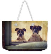 How Much Is That Doggie In The Window? Weekender Tote Bag by Stephanie McDowell