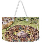 How The Chief Is Buried Weekender Tote Bag