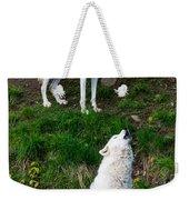 Howling Wolves Weekender Tote Bag
