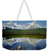 1m3643-howse Peak, Mt. Chephren Reflect Weekender Tote Bag