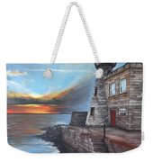 Howth Harbour Lighthouse Weekender Tote Bag