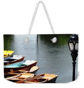 Hoyt Lakes Rowboats In Delaware Park Buffalo Ny Oil Painting Effect Weekender Tote Bag