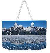 Hubbard Glacier Mountain Reflection Weekender Tote Bag