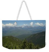 View Of The Rockies From Huckleberry Mountain Glacier National Park Weekender Tote Bag