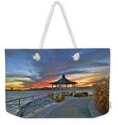 Hudson River Fiery Sky Weekender Tote Bag