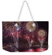 Hudson River Fireworks Viii Weekender Tote Bag by Clarence Holmes