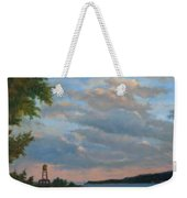 Hudson River Skyscape  Weekender Tote Bag