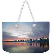 Hudson River Sunrise Nyc Weekender Tote Bag