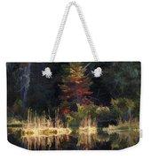 Huff Lake Reflection Weekender Tote Bag