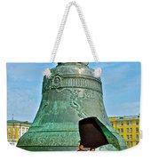 Huge Bell That Cracked In A Pit Inside Kremlin Walls In Moscow-r Weekender Tote Bag