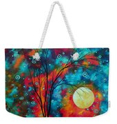 Huge Colorful Abstract Landscape Art Circles Tree Original Painting Delightful By Madart Weekender Tote Bag