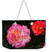 Huge Pink And White Rose...   # Weekender Tote Bag