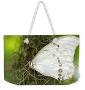 Huge White Morpho Butterfly Weekender Tote Bag