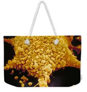 Human Cell Infected With Mycoplasma Weekender Tote Bag by David M. Phillips