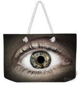 Human Eye Macro Weekender Tote Bag by Elena Elisseeva