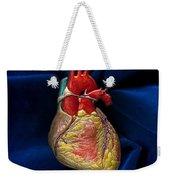 Human Heart On Blue Velvet Weekender Tote Bag