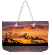 Humboldt Bay Industry At Sunset Weekender Tote Bag