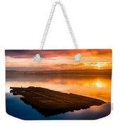 Humboldt Bay Spring Sunrise Weekender Tote Bag