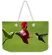 Hummer At The Hibiscus Weekender Tote Bag