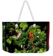 Humming Bird Honeysuckle Weekender Tote Bag