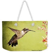 Humming Bird In Flight Weekender Tote Bag