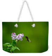 Hummingbird And Lilac Weekender Tote Bag